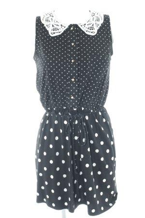 River Island Minikleid schwarz-weiß Punktemuster Rockabilly-Look