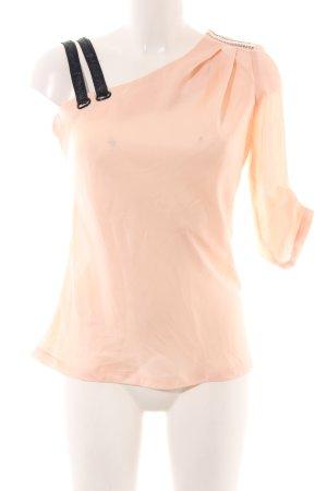 River Island Camisa de un solo hombro nude-negro elegante