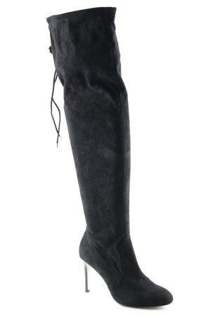 River Island Stivale cuissard nero stile stravagante
