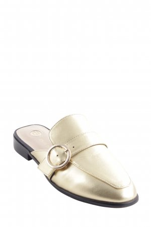 River Island Pantoffeln goldfarben Casual-Look