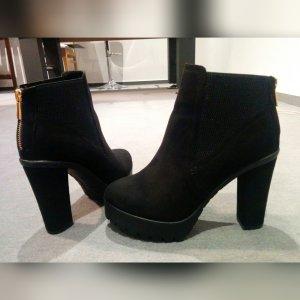 River Island Plateau Ankle Boots schwarz 39