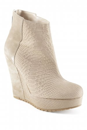 River Island Plateau-Stiefeletten camel Animalmuster Nude-Look