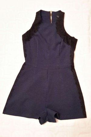 River Island Jumpsuit dark blue-black mixture fibre
