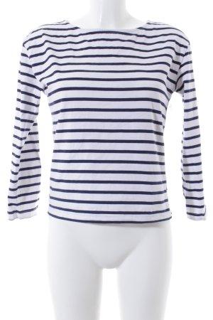 River Island Ringelshirt weiß-dunkelblau Streifenmuster Casual-Look