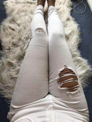 River Island Jeans cigarette blanc