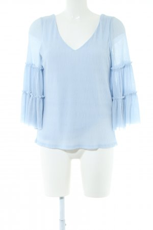 River Island Ruffled Blouse blue business style