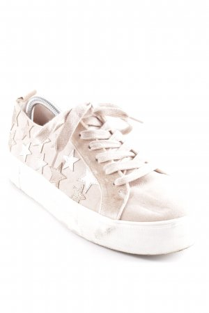 River Island Schnürsneaker roségoldfarben-goldfarben Sternenmuster Casual-Look