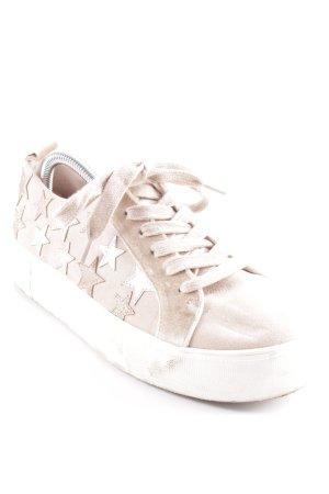 River Island Sneaker stringata color oro rosa-oro modello stella stile casual