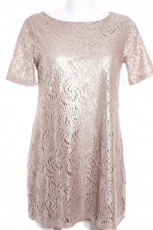 River Island Shirtkleid roségoldfarben Glanz-Optik