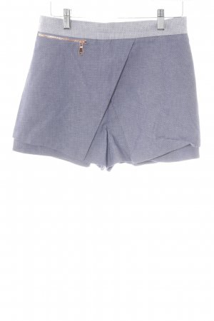 River Island Shorts steel blue-white abstract pattern casual look