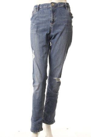 River Island Skinny Jeans destroyed blau