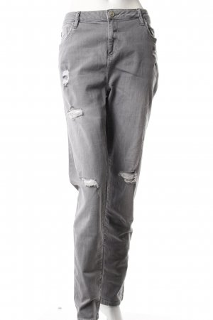 River Island Skinny Jeans destroyed grau