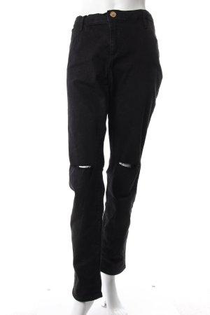 River Island Skinny Jeans schwarz