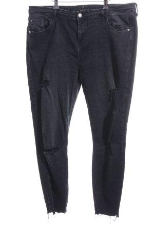 River Island Slim Jeans anthrazit-grau Casual-Look