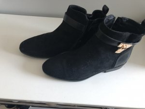 River Island Short Boots black-gold-colored