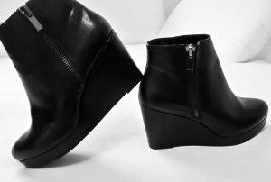 River Island Stiefeletten - Ankle Boots mit Keilabsatz Gr. 41 schwarz