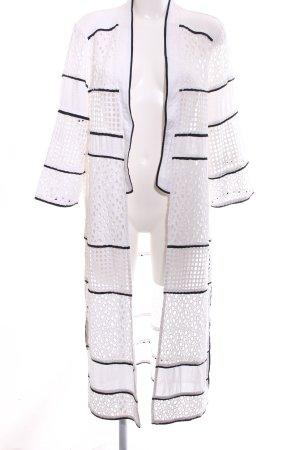 River Island Strick Cardigan weiß-schwarz extravaganter Stil