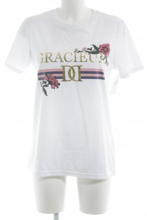 River Island T-Shirt Blumenmuster Casual-Look