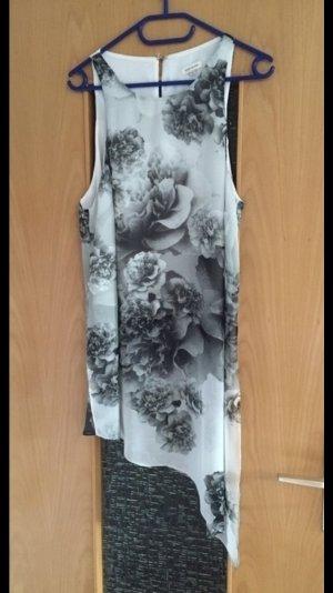 River Island top gr. 40 schwarz weiß Blumen Print