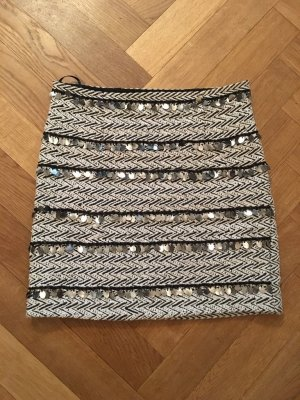 River Island Wool Skirt dark grey