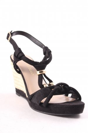 River Island Wedge Sandals black beach look