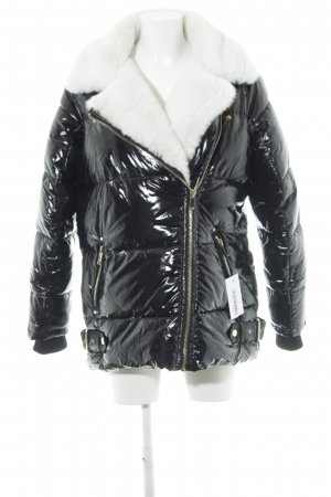 River Island Winterjacke schwarz-weiß extravaganter Stil