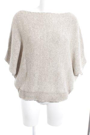 river woods Sweater met korte mouwen beige-room simpele stijl