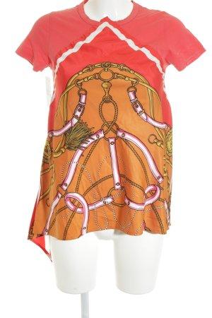 river woods T-Shirt ziegelrot-neonorange Motivdruck extravaganter Stil