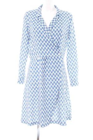 river woods Robe portefeuille bleu-blanc imprimé allover style décontracté