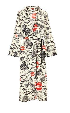 Rixo London Kleid Kimono Wickelkleid mit Print Wrapdress in S