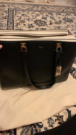 Lauren by Ralph Lauren Pouch Bag black-cream imitation leather