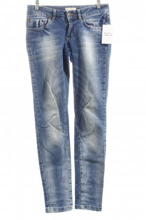ROAD Hüftjeans blau Used-Optik