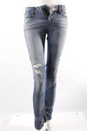 Road to Awe Skinny Jeans mit Reißverschlüssen