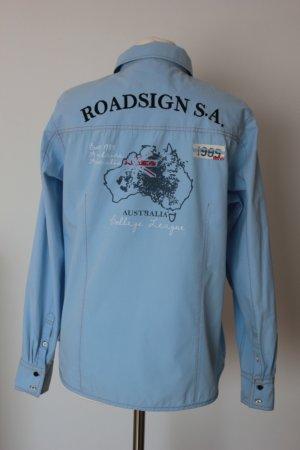 Roadsign Australia Hemd Gr. L Helblau Damen  Bluse/Hemd