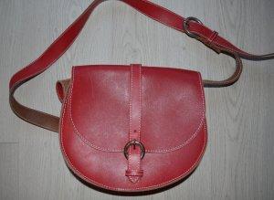 Robako Ceintures italienische Lederhandtasche in Rot