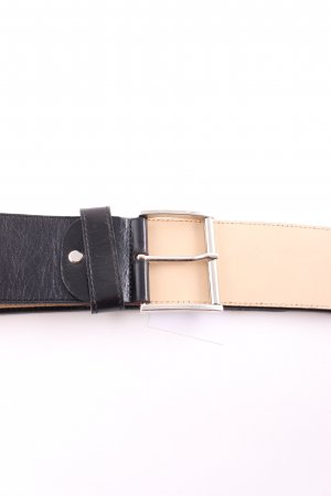 Robako Ceintures Leather Belt black-silver-colored retro look