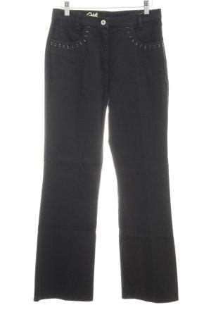 Robell Boot Cut Jeans schwarz Jeans-Optik