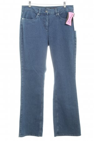 Robell Boot Cut Jeans stahlblau Jeans-Optik