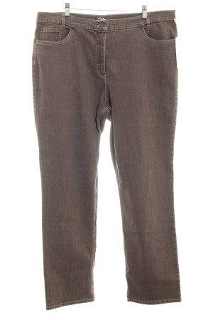 Robell Slim Jeans graubraun Jeans-Optik