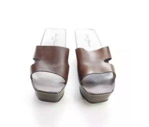 Robert Clergerie Sandale Leder 38 Geisha
