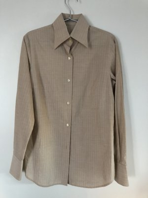 Robert Friedman Colletto camicia beige-argento Cotone