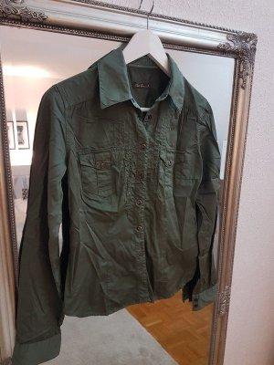 Robert Friedman Bluse Gr. 26 khaki / grün glänzend