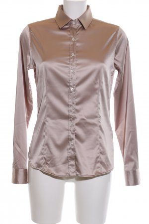 Robert Friedman Glanzende blouse brons zakelijke stijl