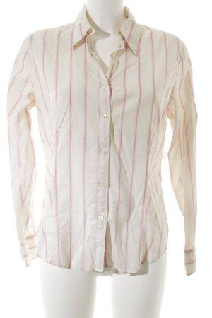 Robert Friedman Hemd-Bluse rosa-creme Streifenmuster Elegant