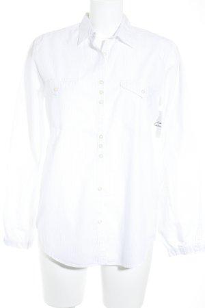 Robert Friedman Hemd-Bluse weiß-grau Streifenmuster Casual-Look