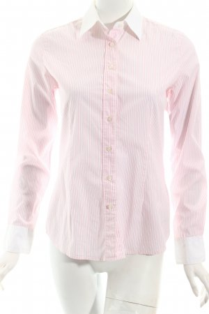 Robert Friedman Hemd-Bluse weiß-rosa Streifenmuster Business-Look