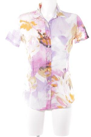 Robert Friedman Kurzarm-Bluse florales Muster Casual-Look