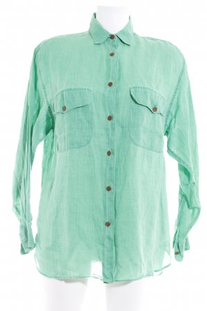 Robert Friedman Langarmhemd grün Casual-Look