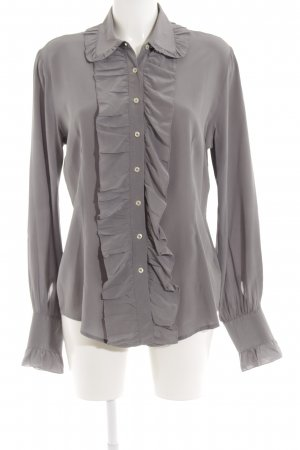 Robert Friedman Seidenbluse grau Casual-Look