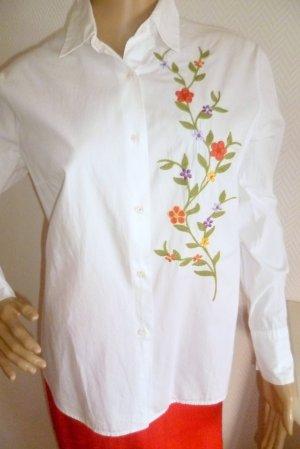 Robert Friedmann - Bluse mit Blüten Stickerei - Gr.L/40